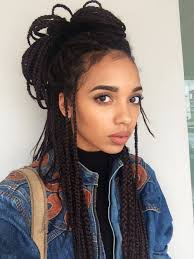 medium box braids with color tumblr schizpup 6thrill 6thrill cute person beauty goals