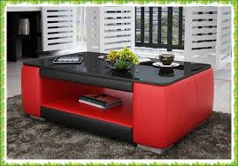 red and black coffee table luxury red black leather table with storage area selling in