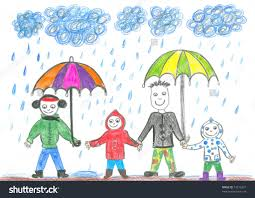 rainy day drawing for children rainy day umbrellas watercolour