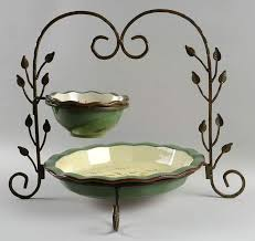 Home Interiors Apple Orchard Collection Apple Orchard Collection Chip Dip Set W Metal Stand Dib Piep12