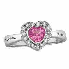 rings with birthstones and names sterling silver princess birthstone ring with cubic zirconia