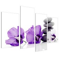 china purple flower oil painting for home decoration on canvas