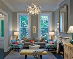 blue grey color scheme living room transitional with white leather