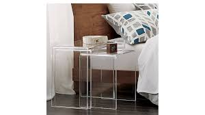nightstands clear acrylic table acrylic trunk coffee table