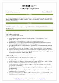 sample resume for analyst programmer polished mechanics gq