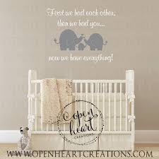 Baby Decals For Walls Elephant Wall Decal For Baby Nursery And First We Had Each