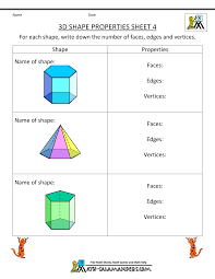 Transformations Geometry Worksheet 3d Shapes Worksheets