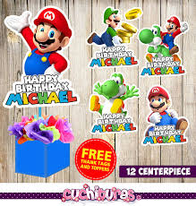 12 super mario bros centerpieces super mario bros printable