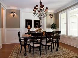 traditional dining room using light wall colors featured