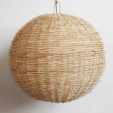 Wicker Light Fixture by Earth To Air Organic Natural Fiber Lighting U2013