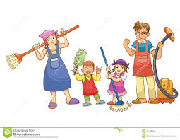 family doing household chores clipart clipartsgram com