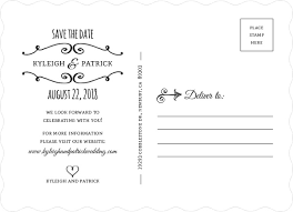 Postcard Save The Dates 28 What To Write On Save The Date Postcards Back Maryland