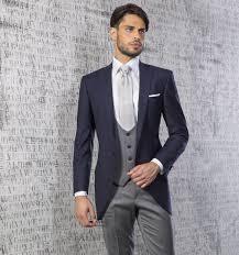 gentleman 39 s new arrival italian style navy blazer gray pants and waistcoat