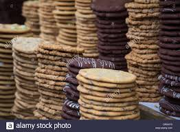 piles of cookies for sale at the chocolate festival southbank