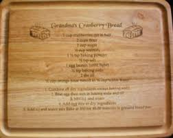 cutting board with recipe engraved christmas gift for handwritten recipe engraved on cutting