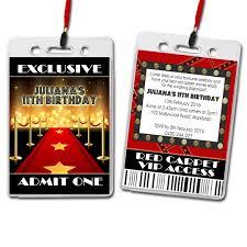 red carpet birthday party invitations free printable invitation