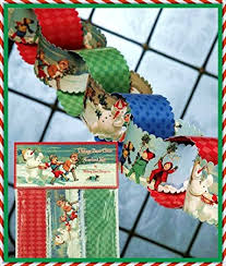 vintage christmas paper vintage christmas paper chain christmas tree garland