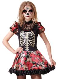 Halloween Costume Sale Uk Skeleton Day Of The Dead Doll Party Superstores