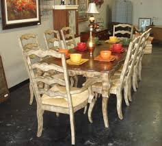 classic french country style dining room sets with 8 white ladder