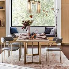 Brass Dining Table Tower Dining Table Concrete West Elm
