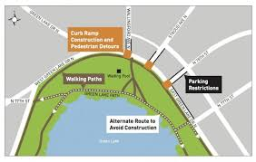 seattle map green lake seattle greenlaker curb rs added to green lake drive news