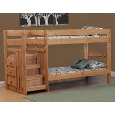 Simply Bunk Beds Pine TwinTwin Staircase Bunk Bed Wayside - Stairs for bunk beds