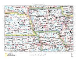 Map Of Ks Missouri River Drainage Basin Landform Origins Between Sioux City