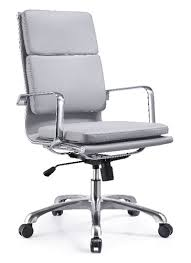 Leather Office Chair Woodstock High Back Gray Leather Office Chair
