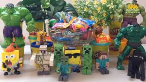 candy surprise toys toy videos for children minecraft