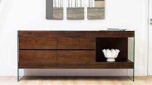 espresso dark wood sideboard storage funky tempered glass legs