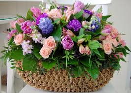 flower bouquet beautiful flowers basket nature wallpaper for sony
