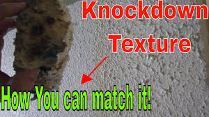 how to match knockdown texture on a drywall repair youtube