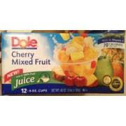 dole fruit bowls dole fruit cups cherry mixed fruit in 100 fruit juice 4 oz cups