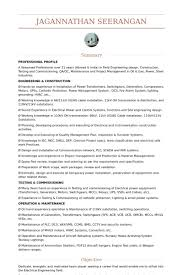 Resume Sample Engineer by Electrical Engineer Resume Samples Visualcv Resume Samples Database