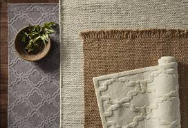 Rug Brown Bungalow Rose Zayan Meika Chunky Wool Cable Off White Area Rug