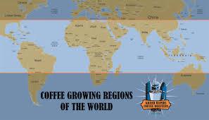 Seas Of The World Map by Coffee World Map U2013 Grand Rapids Coffee Roasters