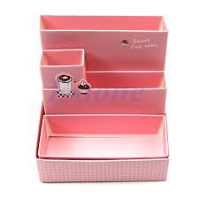 diy foldable paper cardboard storage box makeup cosmetic organizer stationery 664688257455