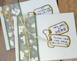 army thank you card etsy