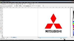 mitsubishi logo curso de corel draw x5 aula 53 logo da mitsubishi youtube