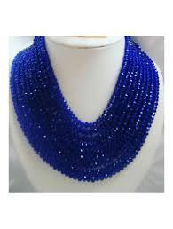 crystal bead necklace images Blue crystal bead necklace shopnaija jpg