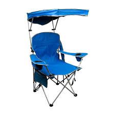 quik shade royal blue patio folding chair with sun shade 150254