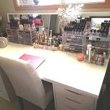Makeup Organizer Desk I Like The Idea Of A Vanity Computer Desk Home