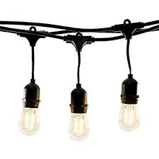 edison string lights 100 foot s14 led edison outdoor string lights
