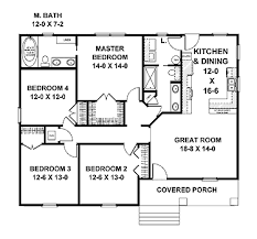home plans homepw07980 1 541 square feet 4 bedroom 2 bathroom