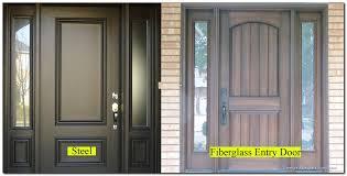 Steel Vs Fiberglass Exterior Door Steel Vs Fiberglass Entry Door Beinside Net