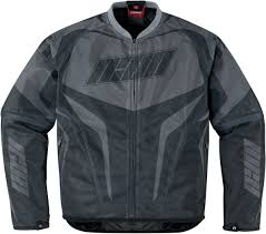 mesh motorcycle jacket icon hooligan street jersey mesh motorcycle jacket black