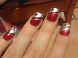 red and silver design by leannej from nail art gallery nail