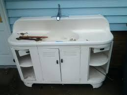 Retro Metal Kitchen Cabinets For Sale Vintagevintage Metal Kitchen Sink Cabinet Old Meetly Co