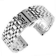 silver bracelet watches images Watchband 20mm 22mm 24mm stainless steel watch band strap men jpg