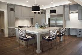 kitchen islands with legs mismatched island pendants transitional kitchen sherwin